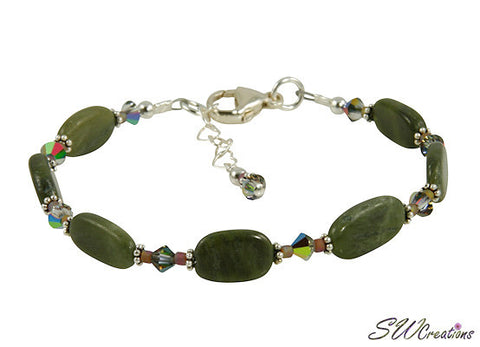 jade gemstone beaded bracelet