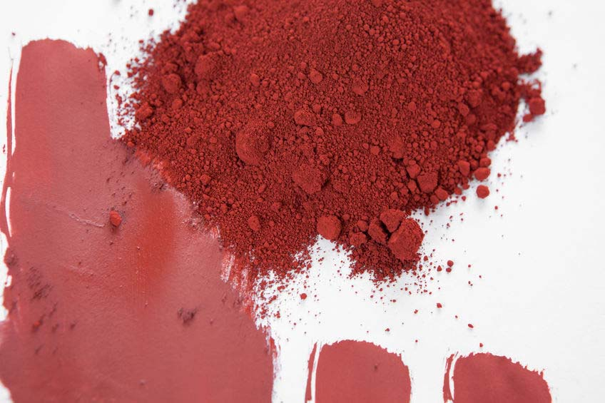 red ocher color pigment