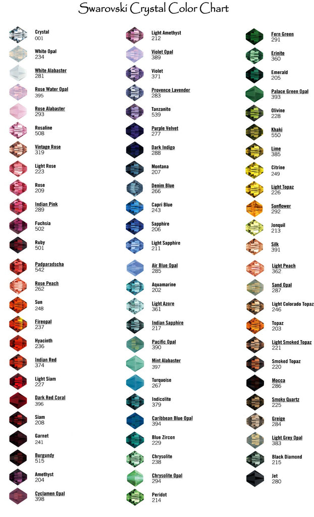 1e39b5fff44fd6 Please let us know if you would like assistance in creating something in  one of these brilliant crystal colors. Call or email us today to start  designing ...