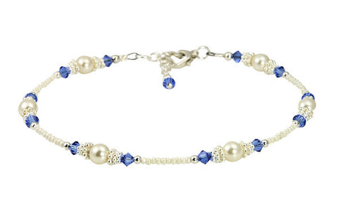 something blue anklet for bride