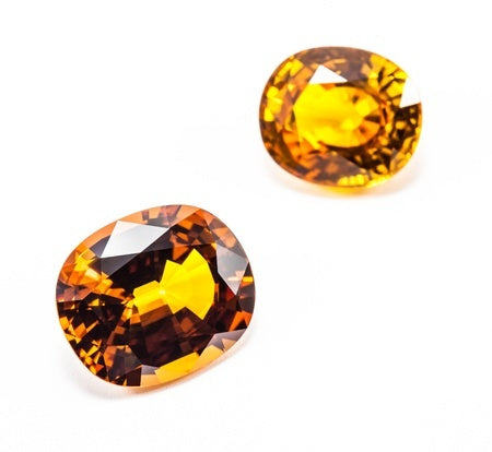 yellow topaz gemstones