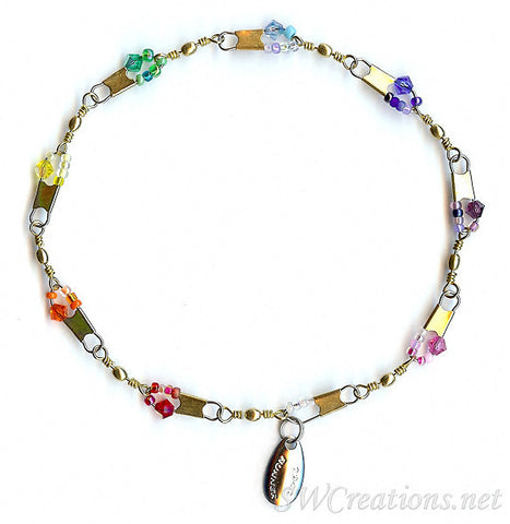 Beach Summer Rainbow Crystal Anklet - SWCreations