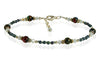 Custom Blue Ocean Quartz Pyrite Beaded Anklet - SWCreations