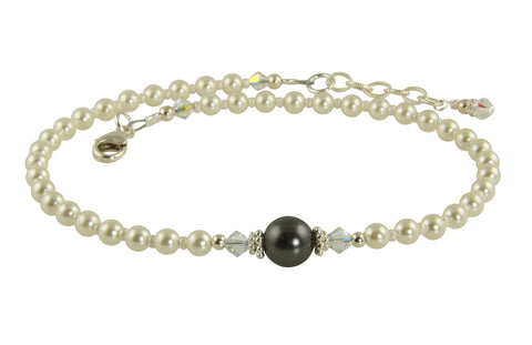 therapy inch gold with ankle bracelet silvertone heart silver hearts anklet deal shop get adjustable the magnetic