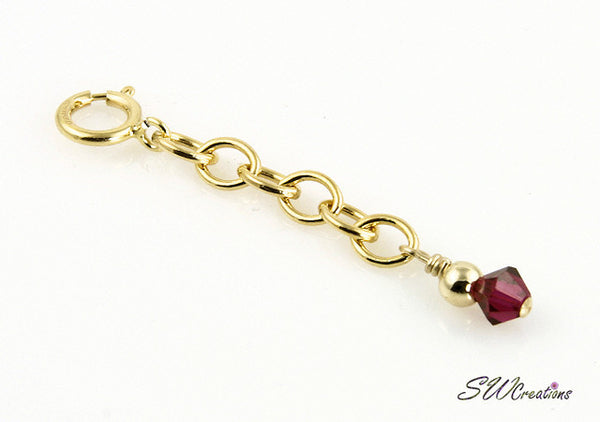 Custom Crystal Gold Bracelet Extender - SWCreations