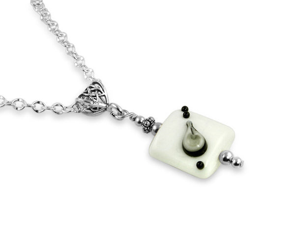 Black Tie Affair Lampwork Pendant Necklace - SWCreations