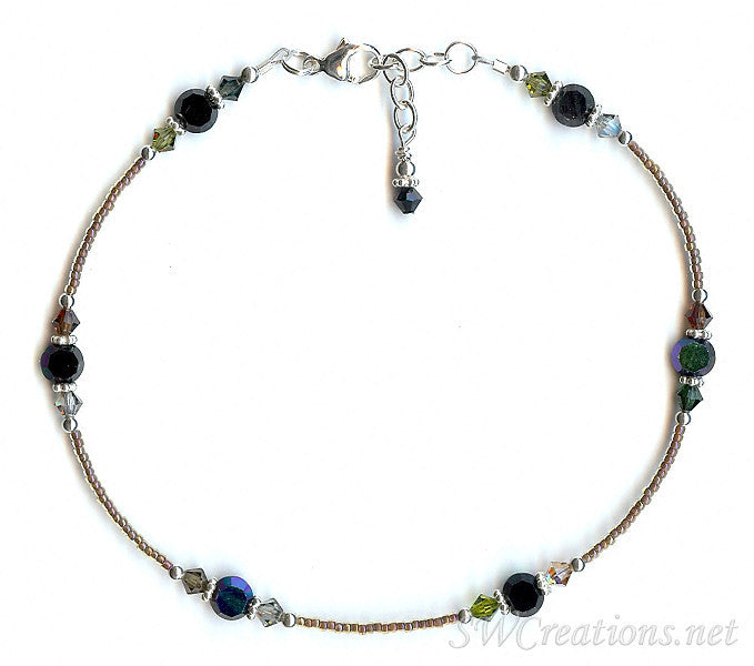 Paradis Sur Terre Crystal Silver Ankle Bracelet - SWCreations