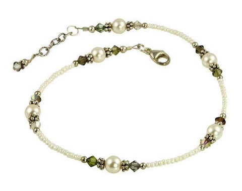 Black Shadows Crystal Beaded Anklet - SWCreations