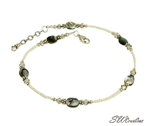 Golden Shadow Abalone Shell Anklet - SWCreations