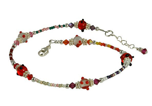 All Jazzed Up Swanky Beaded Anklet - SWCreations