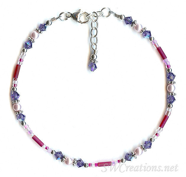 Tanzanite Sugar-n-Spice Bali Anklet - SWCreations