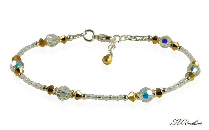 Golden Dream Crystal Beaded Anklet - SWCreations