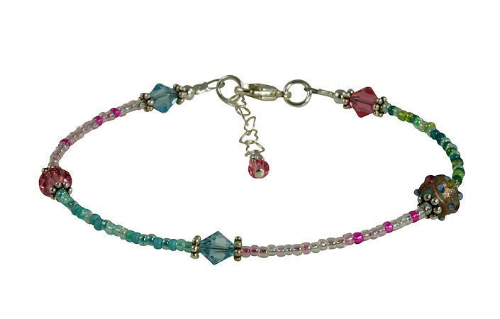 All Jazzed Up Medley Beaded Anklet - SWCreations