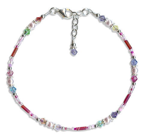 Sugar-n-Spice Crystal Beaded Anklet - SWCreations
