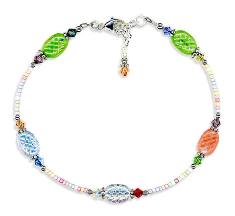 Spring Glass Crystal Mix Anklet - SWCreations