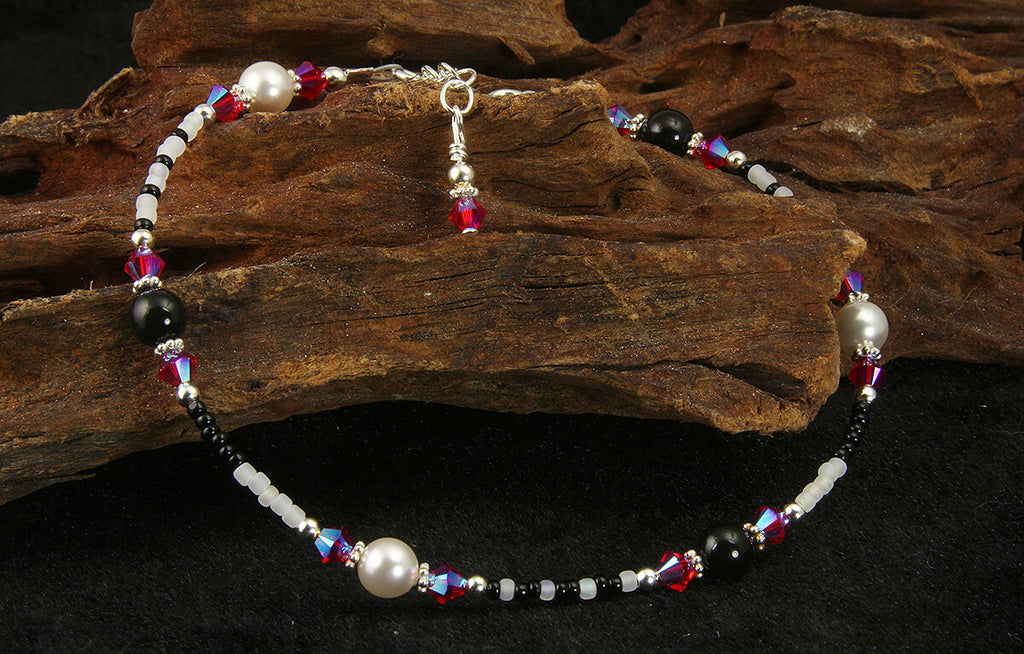 All Jazzed Up Pink Zebra Beaded Anklet