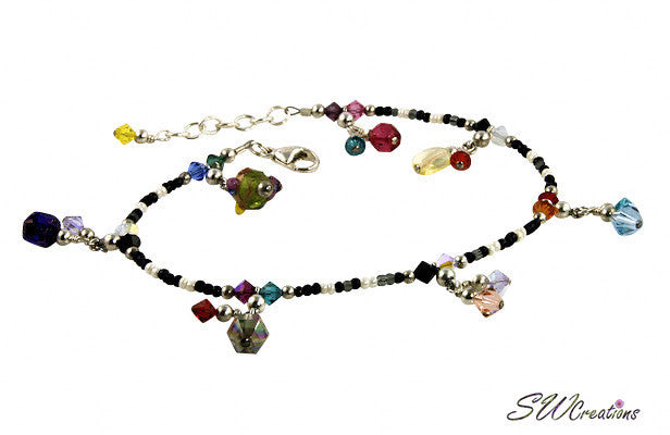 All Jazzed Up Color Splash Gypsy Charm Anklet - SWCreations  - 2