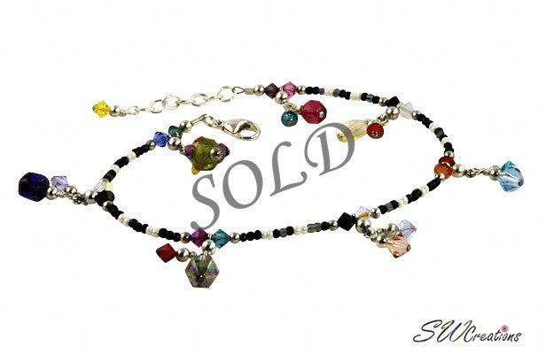 All Jazzed Up Color Splash Gypsy Charm Anklet - SWCreations  - 1