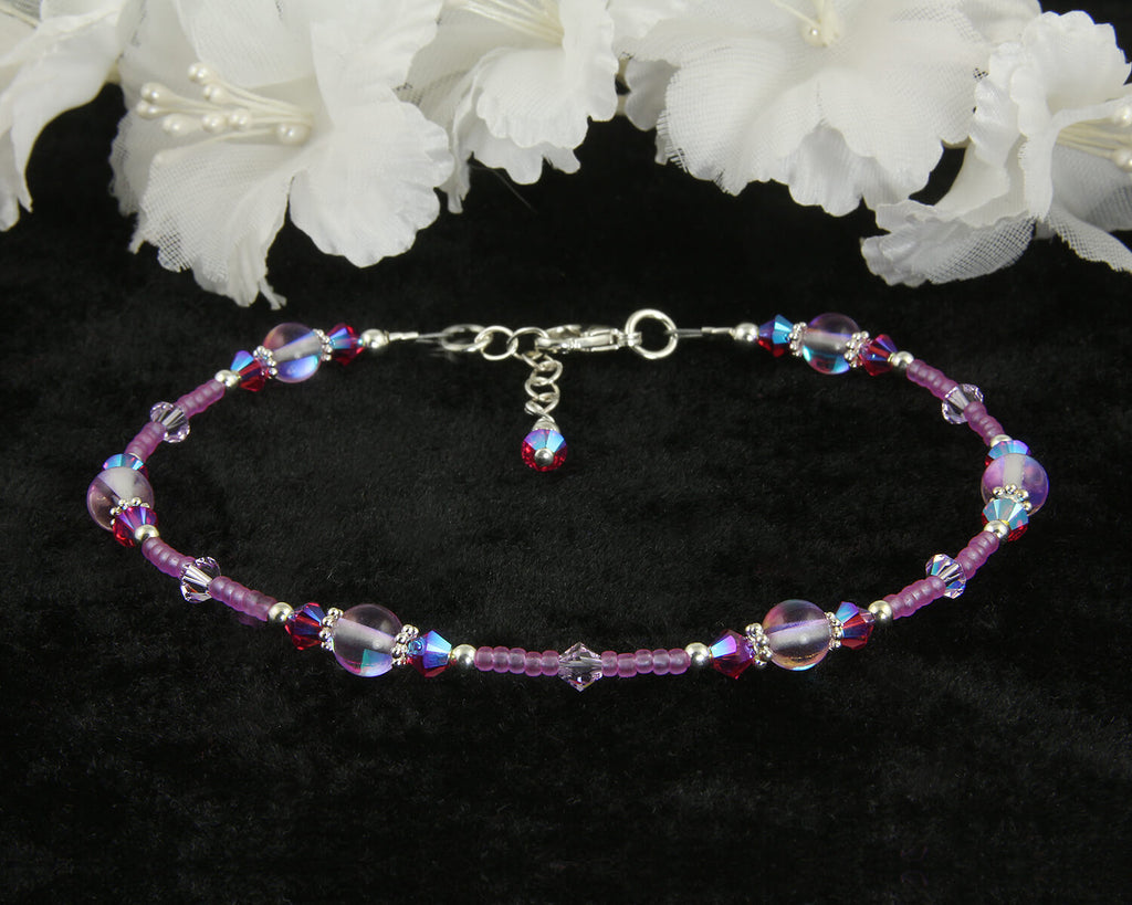Mystic Aura Quartz Beaded Anklet