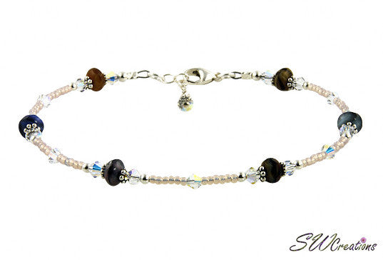 Fancy Gems Glass Beaded Anklet - SWCreations