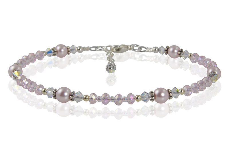 Romantic Pink Pearl Beaded Anklet - SWCreations