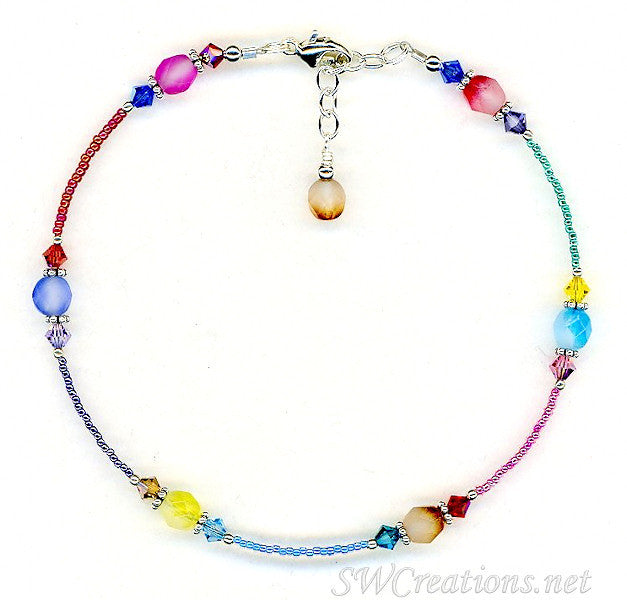 Spring Czech Crystal Pastel Anklet - SWCreations