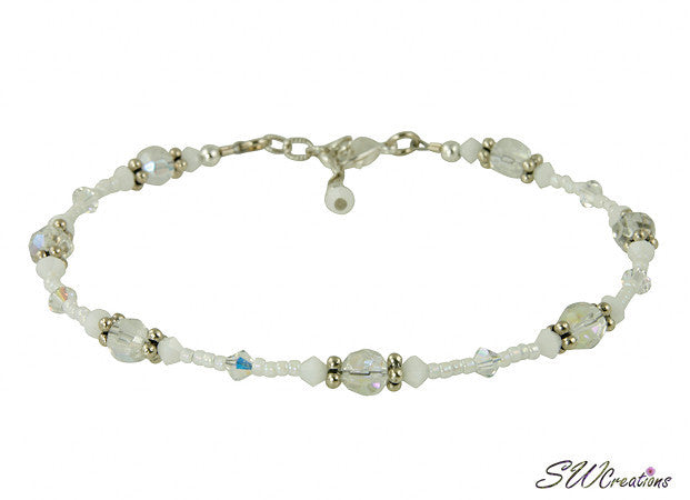 Snow White Crystal Glass Beaded Anklet - SWCreations