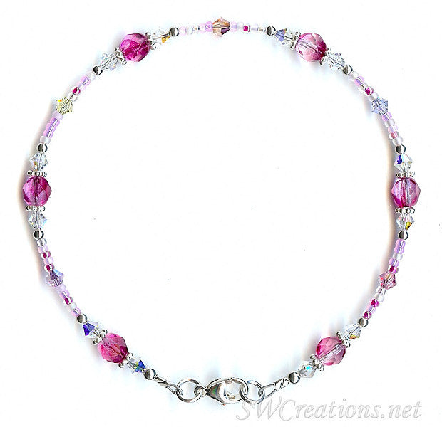 Royal Fandango Pastel Crystal Anklet - SWCreations