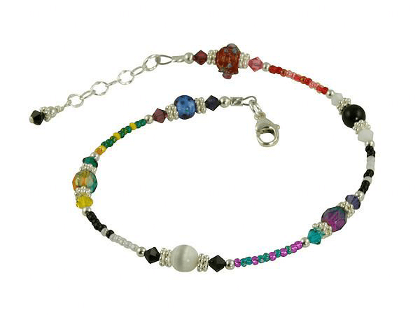 All Jazzed Up Idiosyncratic Funky Beaded Anklet