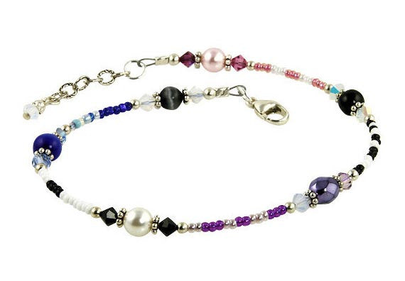 All Jazzed Up Sensations Beaded Anklet - SWCreations