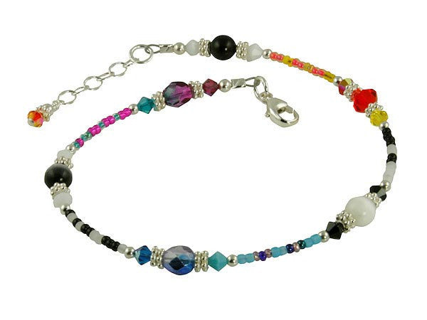All Jazzed Up Capricious Funky Beaded Anklet - SWCreations  - 2