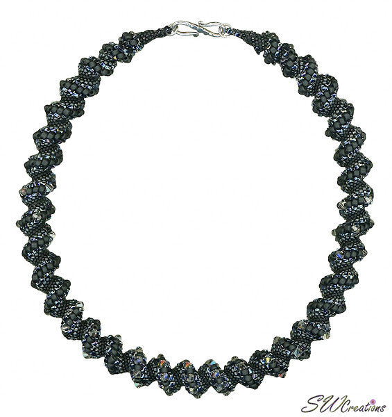 Black Diamond Bead Art Necklace - SWCreations