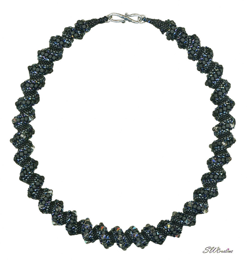 Black Diamond Bead Art Necklace - SWCreations  - 2
