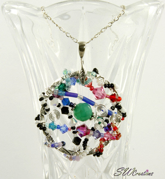 All Jazzed Up BeadJewel Crystal Bead Art Pendant - SWCreations