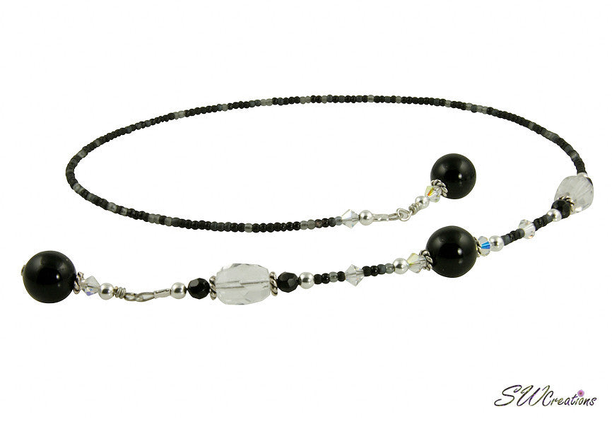 Crystal Black Onyx Gemstone Beaded Bookmark - SWCreations