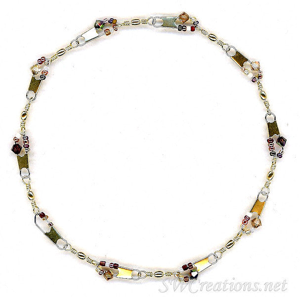Beach Chestnut Topaz Crystal Anklet - SWCreations