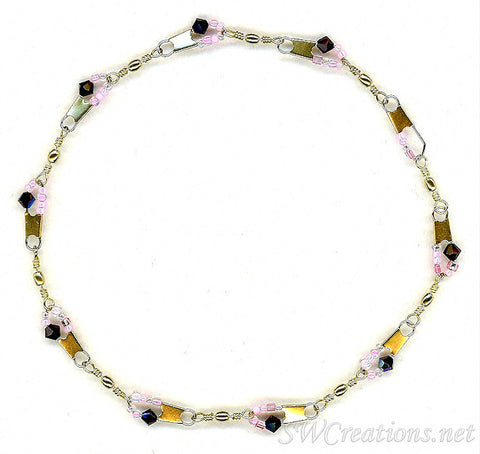 Beach Garnet and the Rose Crystal Anklet - SWCreations