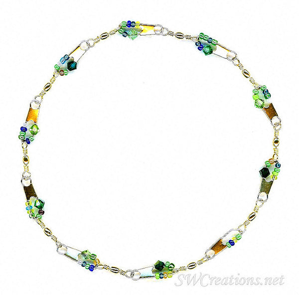 Beach All About Green Crystal Anklet - SWCreations