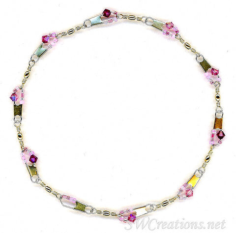 Beach Sugar-n-Spice Crystal Anklet - SWCreations