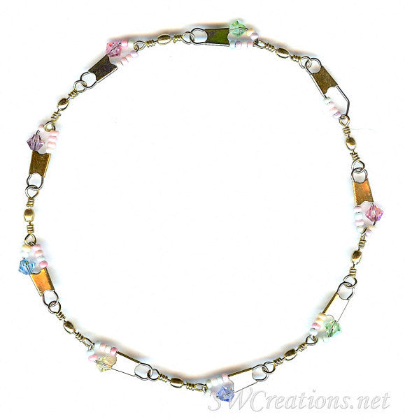 Beach Spring Pastel Crystal Anklet - SWCreations