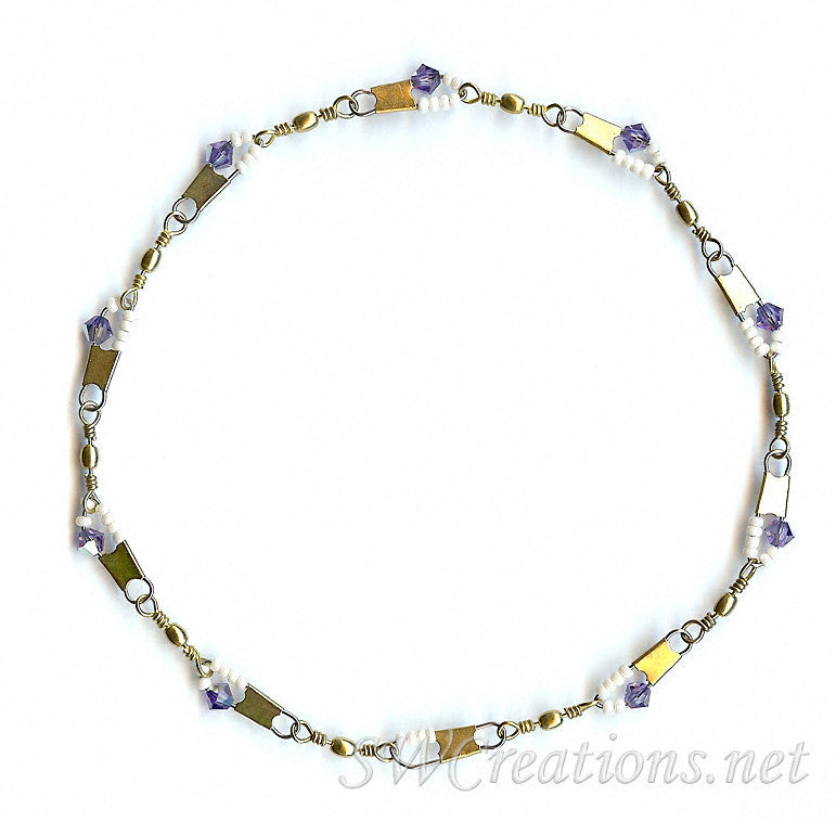 Beach Tanzanite Cream Crystal Anklet - SWCreations