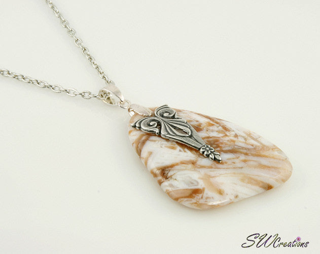 Soutwest Agate Gemstone Pendant Necklace - SWCreations