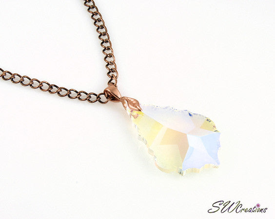 Star Crystal Iridescent Pendant Necklace - SWCreations