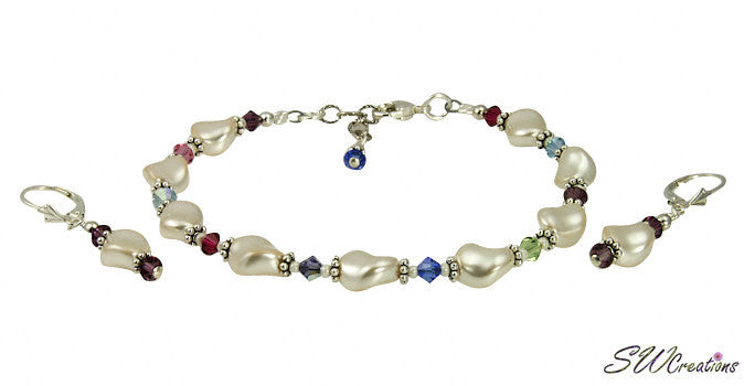 Cream Pearl Twist Generation Birthstone Crystal Set - SWCreations