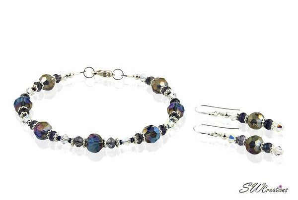 Iolite Gemstone Crystal Beaded Bracelets Sets - SWCreations