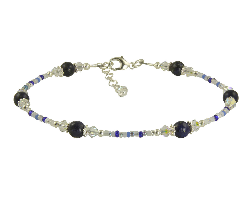 Berlin Blue Sodalite Gemstone Anklet