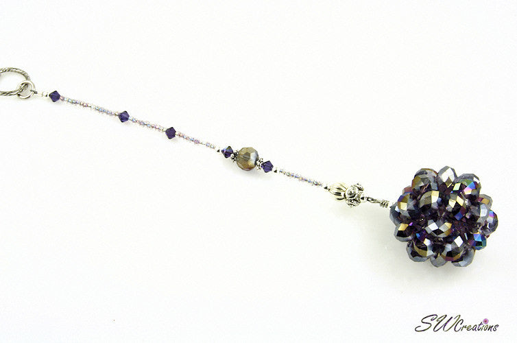 Cosmic Circle Tanzanite Purple Beaded Car Jewel - SWCreations  - 2