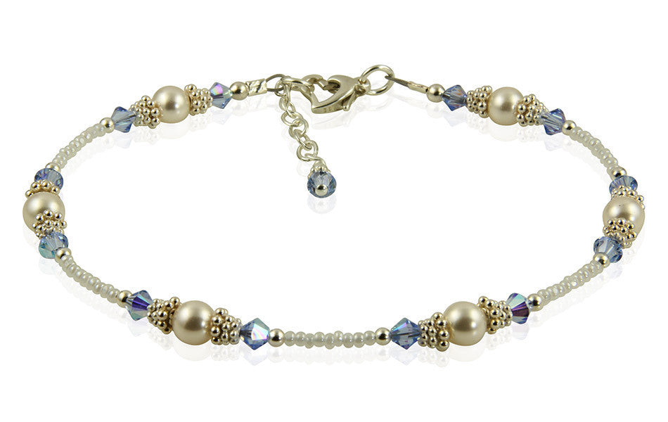 Classic - Something Blue Wedding Sapphire Heart Anklets - SWCreations  - 2
