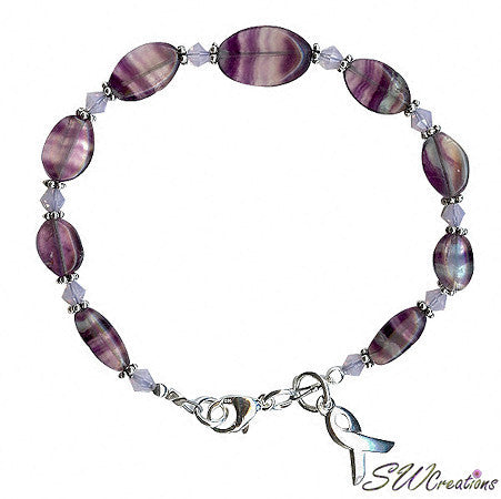 Domestic Abuse Gemstone Awareness Beaded Bracelets - SWCreations