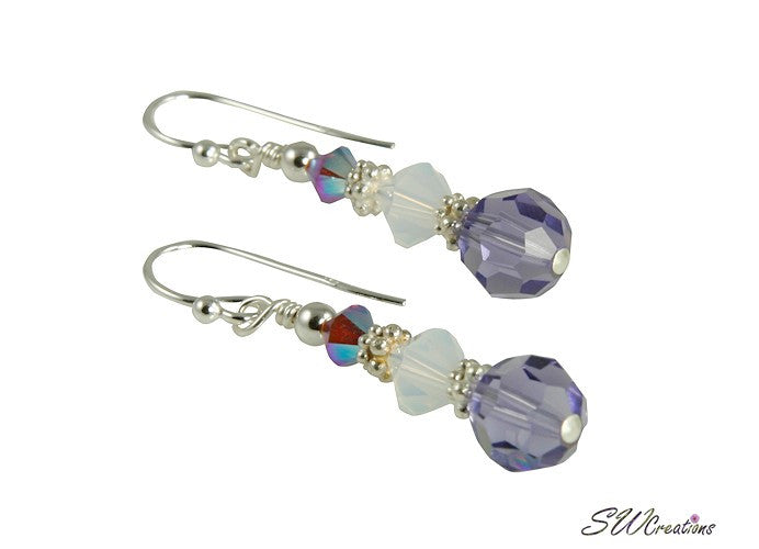 Opal Tanzanite Crystal Beaded Earrings - SWCreations